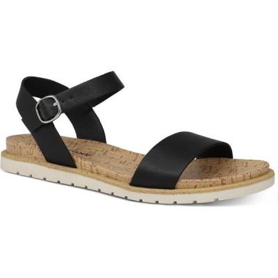 サンストーン Sun + Stone レディース サンダル・ミュール シューズ・靴 Mattie Flat Sandals's Black