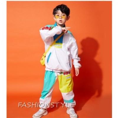 キッズ ダンス 衣装 子供 ヒップホップ ダンス衣装 ジャズダンス 練習着 体操服 運動服 単品 HIPHOP JAZZ 長袖 ロングパンツ