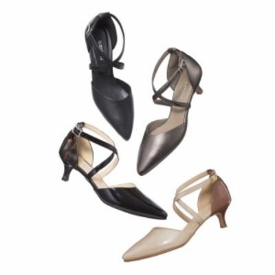 バッグ 靴 アクセサリー パンプス サンダル ストラップ バックストラップパンプス クロスストラップ ヒールパンプス 209505