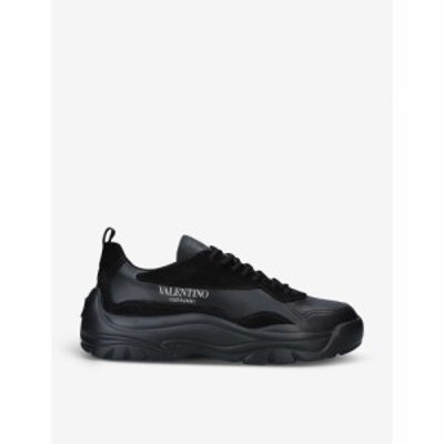 ヴァレンティノ VALENTINO GARAVANI メンズ スニーカー シューズ・靴 Bansi leather mid-top trainers BLACK