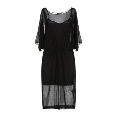 CRISTINAEFFE ミニワンピース&ドレス ブラック 42 100% レーヨン ミニワンピース&ドレス