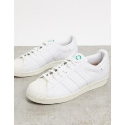 アディダス メンズ スニーカー シューズ adidas Originals Clean Classics Sustainable Superstar sneakers in white White