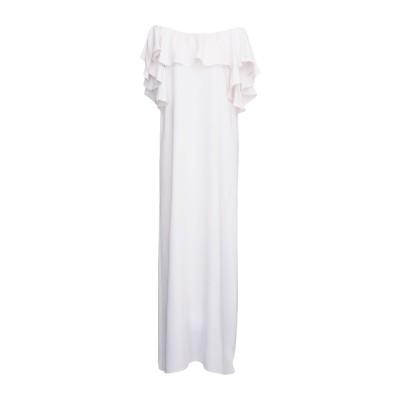 パロッシュ P.A.R.O.S.H. ロングワンピース&ドレス ホワイト M ポリエステル 100% ロングワンピース&ドレス