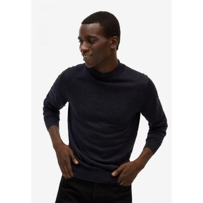 マンゴー Mango Man メンズ ニット・セーター トップス Merino Wool Washable Sweater Dark Grey