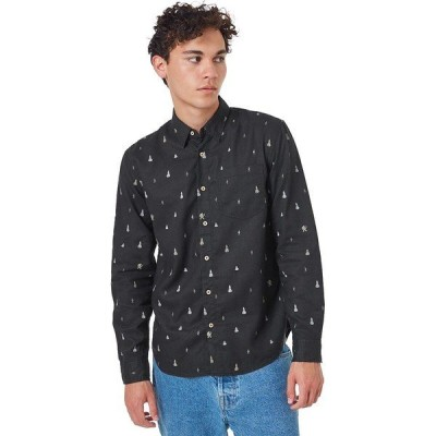 テンツリー シャツ メンズ トップス Sasquatch Mancos Long-Sleeve Shirt - Men's Meteorite Black Sasquatch Print