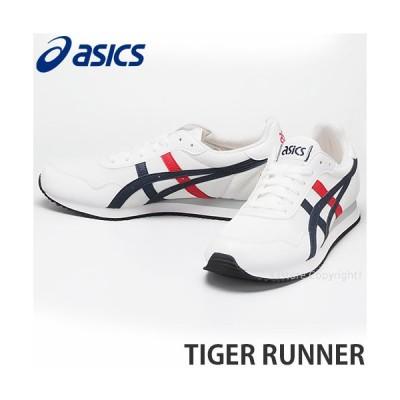 アシックス タイガー ランナー asics TIGER RUNNER スニーカー シューズ 靴 メンズ MENS レトロ タウンユース カラー:WHITE/MIDNIGHT