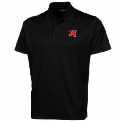Vantage Apparel バンテージ アパレル スポーツ用品  Nebraska Cornhuskers Omega Solid Mesh Performance Polo - Black