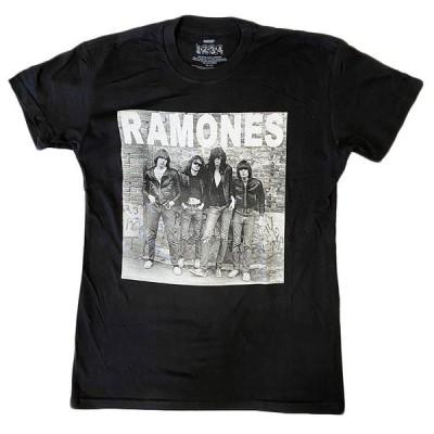 バンドTシャツ RAMONES ラモーンズ Tシャツ ファースト アルバム ジャケット メンズ ブラック 送料無料