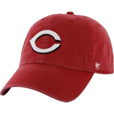 フォーティセブン 47 メンズ キャップ 帽子 Cincinnati Reds Clean Up Red Adjustable Hat