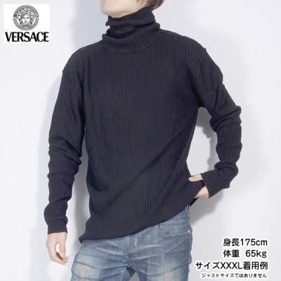 【送料無料】ジャンニヴェルサーチ(Versace)Versace メンズ カットソー 長袖 VZKD0L 6U600 000 ブラック 黒