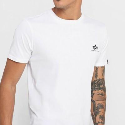 アルファインダストリーズ メンズ ファッション Print T-shirt - white