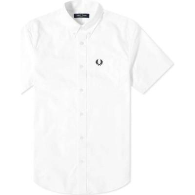 フレッドペリー Fred Perry Authentic メンズ 半袖シャツ トップス short sleeve oxford shirt White
