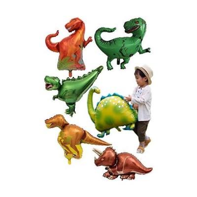 NEW ! 男の子が喜ぶ恐竜6体セット】 バルーンセット バルーンギフト ダイナソー ジュラシック アルミバルーン パーティー プレゼント 風船 お祭