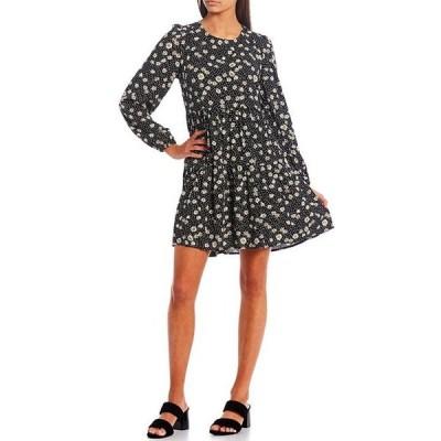 JOLT レディース ワンピース トップス Floral Print Tiered Babydoll Dress