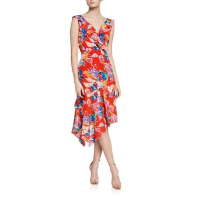 ミリー レディース ワンピース トップス Alexis Bouquet Floral Sleeveless Asymmetrical Dress