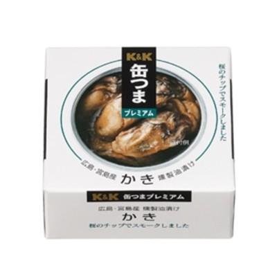 K&K 缶つまプレミアム 広島かき 燻製油漬け x 6個