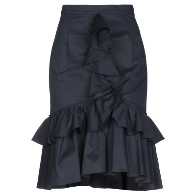 TOME ひざ丈スカート ブラック 4 コットン 100% ひざ丈スカート