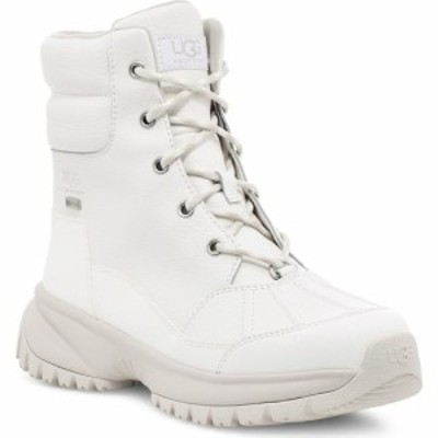 アグ UGG レディース ブーツ レースアップ シューズ・靴 Yose Waterproof Lace-Up Boot White Leather