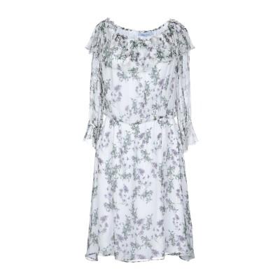 ブルマリン BLUMARINE ミニワンピース&ドレス ホワイト 40 シルク 100% ミニワンピース&ドレス