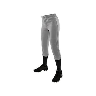 CHAMPRO Women's Pull-Up Softball Pant, Grey, X-Large