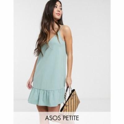 エイソス ASOS Petite レディース ワンピース ミニ丈 ワンピース・ドレス ASOS DESIGN Petite Exclusive v front mini dress with pep he
