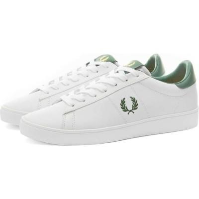 フレッドペリー Fred Perry Authentic メンズ スニーカー シューズ・靴 spencer leather sneaker White/Ivy
