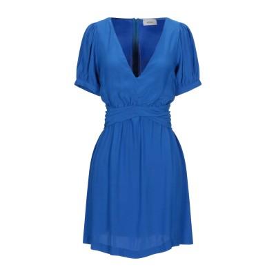 VICOLO ミニワンピース&ドレス ブルー S レーヨン 100% ミニワンピース&ドレス