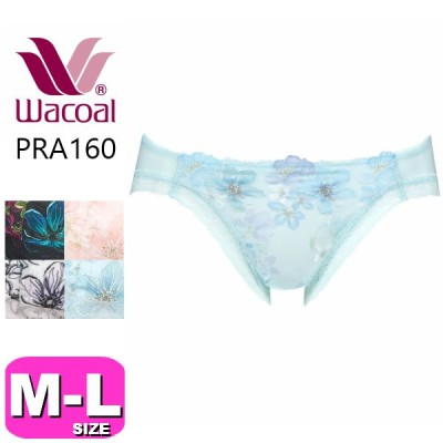 ワコール wacoal【メール便発送可】PRA160 リボンブラ 胸もとフィットながもち ペア ノーマルショーツ MLサイズ WB