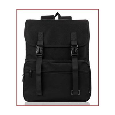 HotStyle Collegiate Flap School Backpack Vintage College Bookbag, Black【並行輸入品】