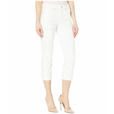 エヌワイディージェイ デニム ボトムス レディース Chloe Capri Jeans in Optic White Optic White