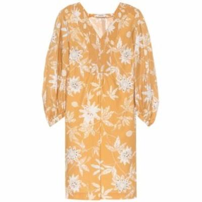 ドロシー シューマッハ Dorothee Schumacher レディース ワンピース ワンピース・ドレス Delicate floral cotton minidress Caramel Pass
