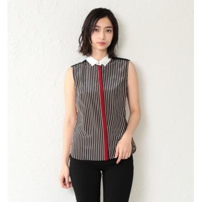 【ラブレス/LOVELESS】 【GUILD PRIME】WOMEN カラーノースリーブブロッキングシャツ