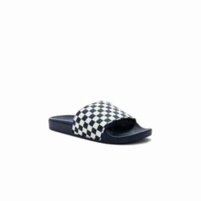 ヴァンズ サンダル Checkerboard Slide-On Dress Blues