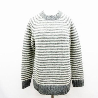 【中古】マーガレットハウエル MHL. 美品 ニット セーター ボーダー ウール 2 Mサイズ相当 0 595-5263514 レディース
