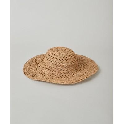 ラフィアブレード帽子