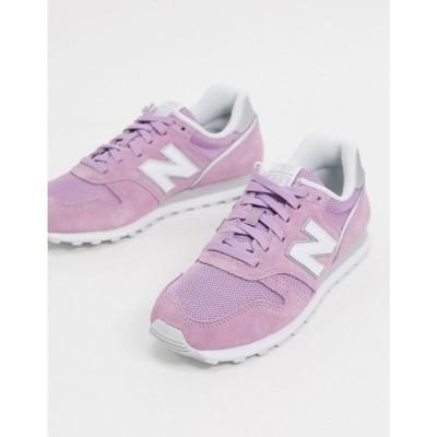 ニューバランス New Balance レディース スニーカー シューズ・靴 373 trainers in purple パープル