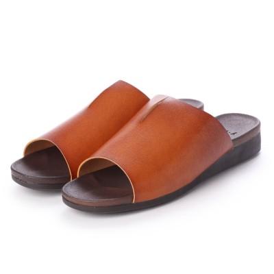 サンダル フラット サンダル 日本製 スリッパ 柔らかい 低反発 ふんわりソール 痛くない 歩きやすい 履きやすい ぺたんこ オープントゥ レディース フラット 靴