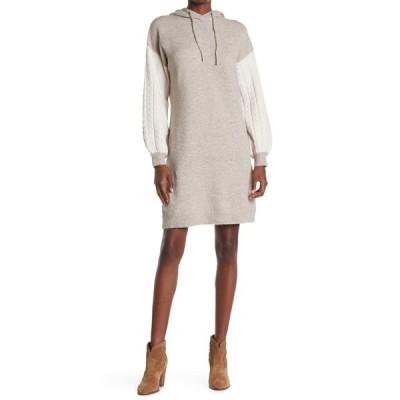 スティッチドロップ レディース ワンピース トップス Cable Sleeve Hoody Dress NUTCASE
