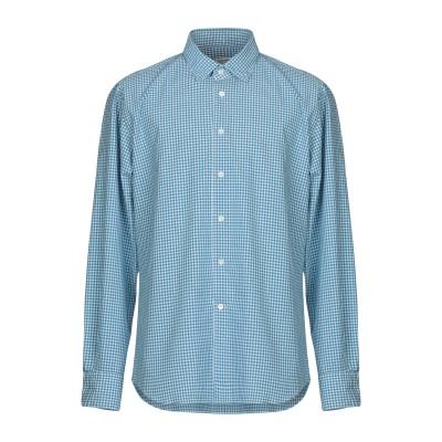 グランシャツ GLANSHIRT シャツ ブルー 40 コットン 100% シャツ