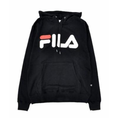 フィラ パーカー FILA PULLOVER HOODED ブラック FM9589 メンズ トップス スウェット プルオーバー