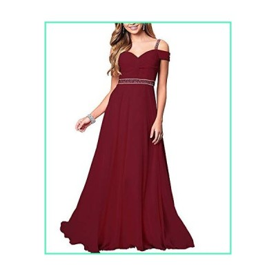 Roiii Women's Elegant Formal Bridesmaid Evening Gown Sleeveless Ruched Party Cocktail Maxi Long Dress (Small, Wine Red)並行輸入品