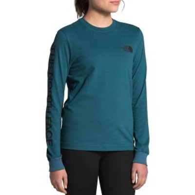 ノースフェイス レディース シャツ トップス The North Face Women's Brand Proud Long Sleeve Shirt Mallard Blue/TNF Black