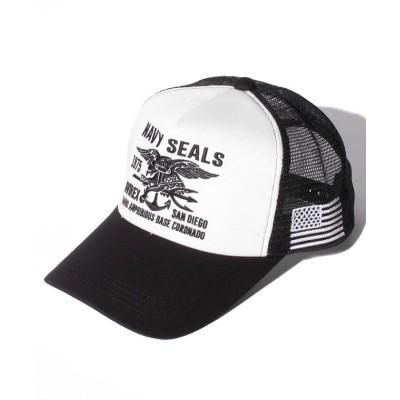 (AVIREX/アヴィレックス)AX NAVY SELALS MESH CAP/ユニセックス ホワイト