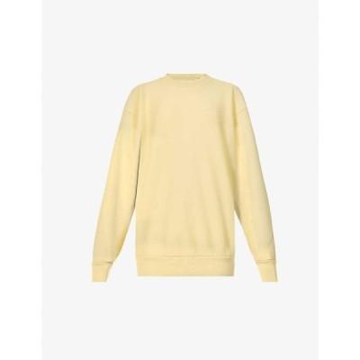 レス ティエン LES TIEN レディース スウェット・トレーナー トップス Dropped-shoulder cotton-jersey sweatshirt ELECTRIC DAISY