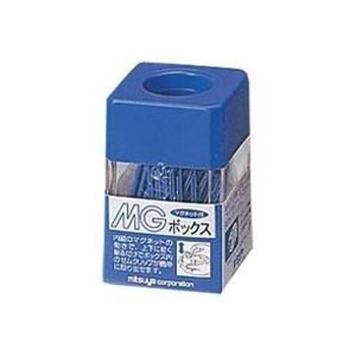ds-1475460 (業務用20セット)ミツヤ MGボックス/ゼムクリップケース 【カラークリップ25g付き】 角型 マグネット内蔵 MB-250V 青 (ds1475