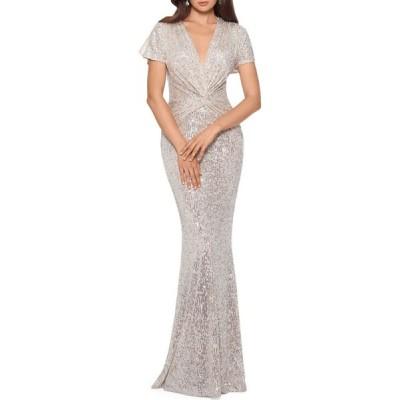 エックススケープ Xscape レディース パーティードレス ワンピース・ドレス Sequin Twisted Gown
