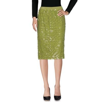 ツインセット シモーナ バルビエリ TWINSET ひざ丈スカート ミリタリーグリーン 40 ナイロン 100% / ポリエステル ひざ丈スカート