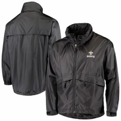 """メンズ ジャケット """"New Orleans Saints"""" Sportsman Waterproof Packable Full-Zip Jacket - Black"""