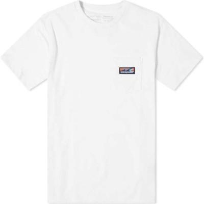 パタゴニア Patagonia メンズ Tシャツ トップス Boardshort Label Pocket Responsibili-Tee White