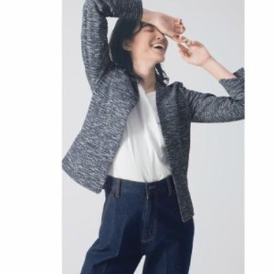 ファッション ジャケット ツイードジャケット ツィーディー ニットジャケット 214104